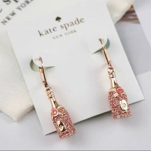 New💕Kate spade Champagne earrings